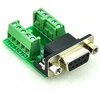 ELECTRONICS-SALON Slim derecho ángulo D 'sub DB9Female Header placa de memoria, D-Sub de bloque de terminales Conector.