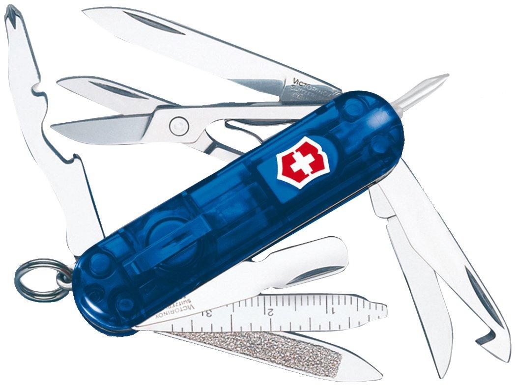 Victorinox Swiss Army Multi-Tool, Midnite MiniChamp Pocket Knife, Sapphire