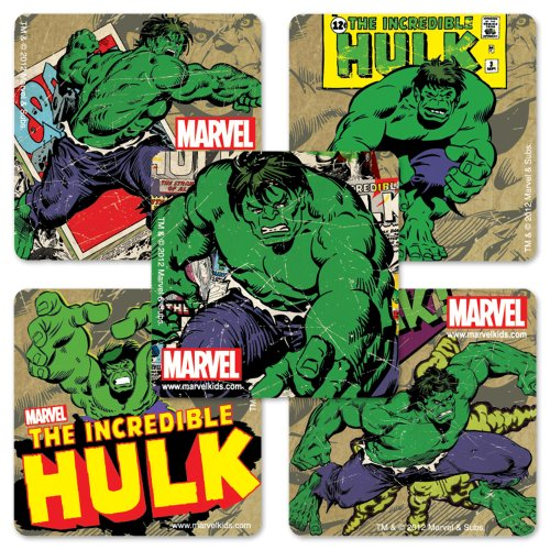 The Incredible Hulk Party Supplies - SmileMakers Incredible Hulk Stickers - 100