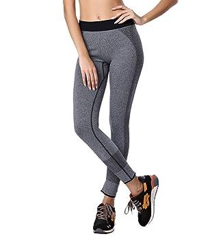 b4bfa7e855e0 Qutool Damen Sport Hose Yoga Leggings Strumpfhosen Workout Hose Running Hose  Medium grau