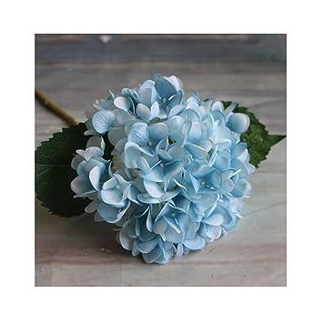 Ihrkleid Kunstblumen Blumen Kunstliche Hortensie Blumen Dekoration Kunstliche Hydrangeablume Hochzeit Dekor Blumenstrauss Blau