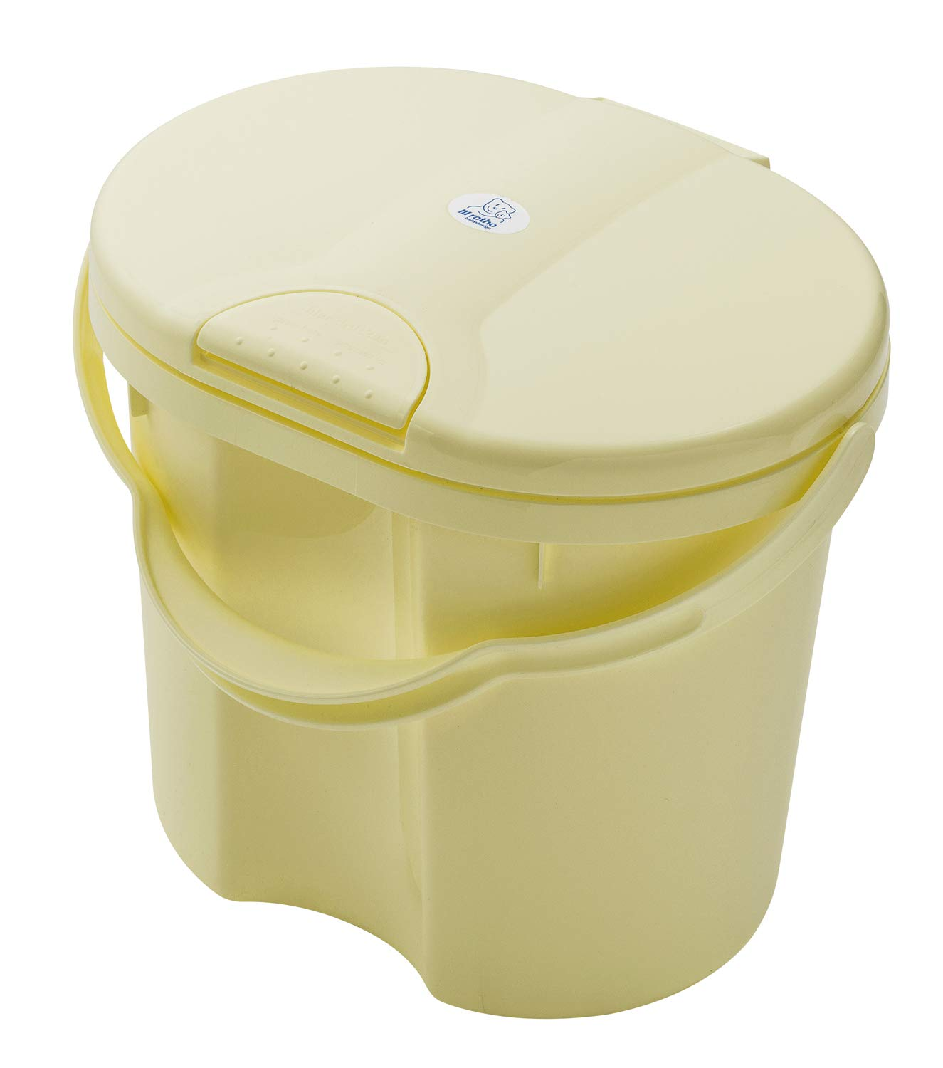 Rotho Babydesign TOP Nappy Pail, with Lid, 11l, 0+ Months, Yellow Delight, 20002 0290 by Rotho Babydesign