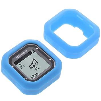 foto-kontor Funda para Garmin Edge 20 Edge 25 Protectora Silicona Carcasa protección Azul