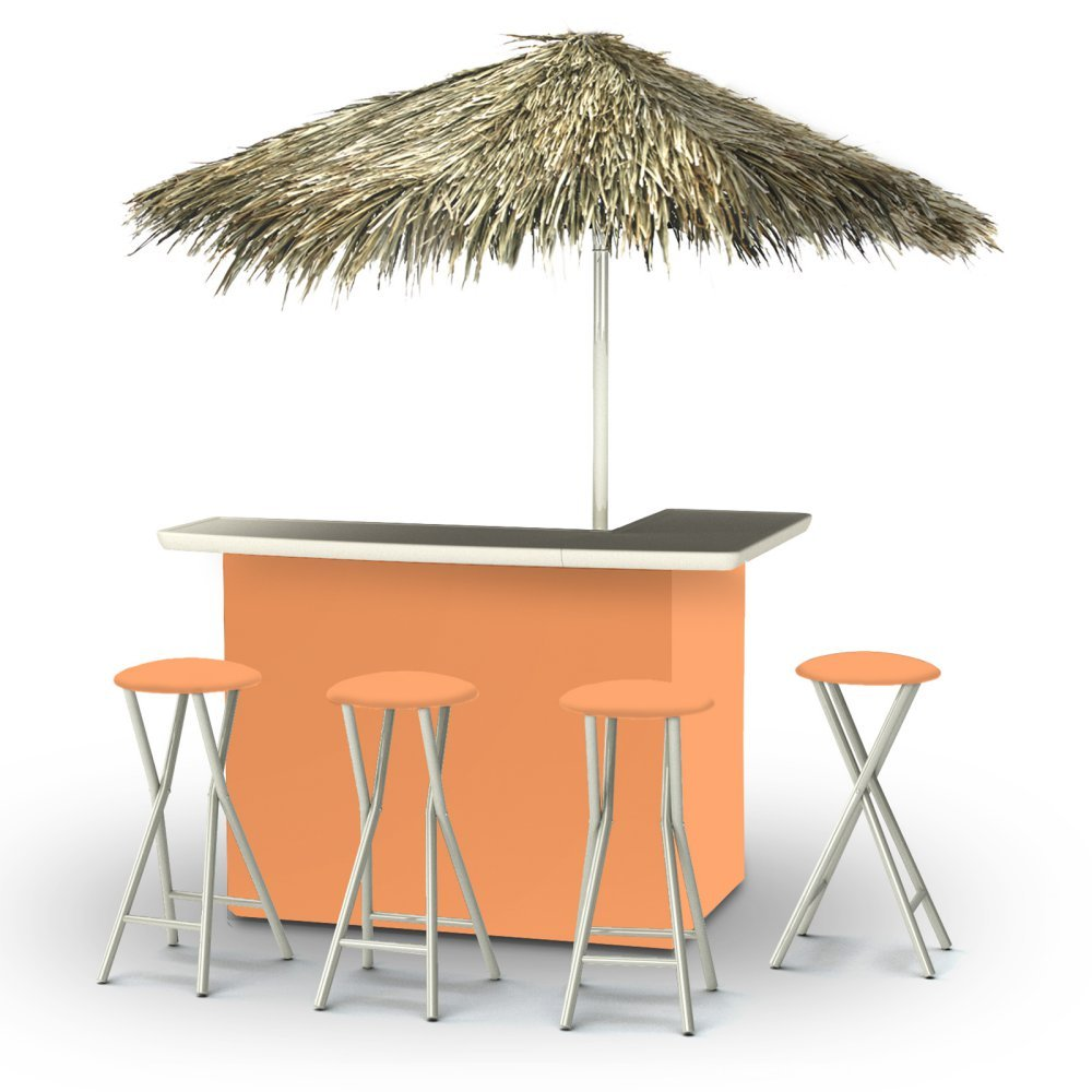 Best of Times Portable Deluxe Bar; Solid Peach - Palapa