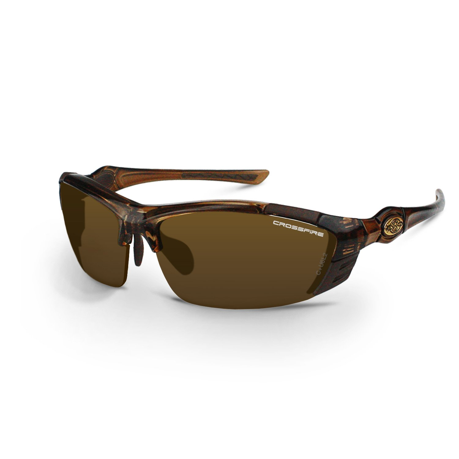 Crossfire Eyewear 361132 TL11 Safety Glasses with Brown Frame and Bronze Lens by Crossfire Eyewear