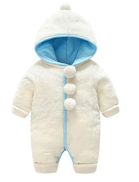 YOGLY Bebé Ropa Invierno Animales Dibujos Animados Encapuchado Mono Pijama Mameluco para Bebé, 0-
