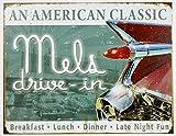 Mels Diner Classic Metal Tin Sign 16'' X 12.5'' , 16x12