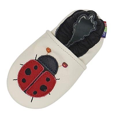 b040e0c5bb6ac Carozoo Chaussures Bébé Enfant à Semelle Souple Chaussons Cuir ...