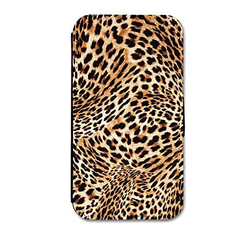 Book Style Flip Handy Tasche Case Schutz Hülle Schutzhülle Schale Motiv Leopard Etui Auswahl Nr. 12 (Design 8) für Apple Iphone 5 / Iphone 5S