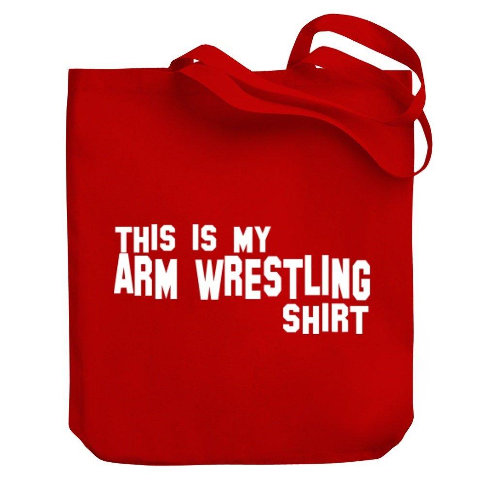 Teeburon THIS IS MY Arm Wrestling SHIRT Canvas Tote Bag