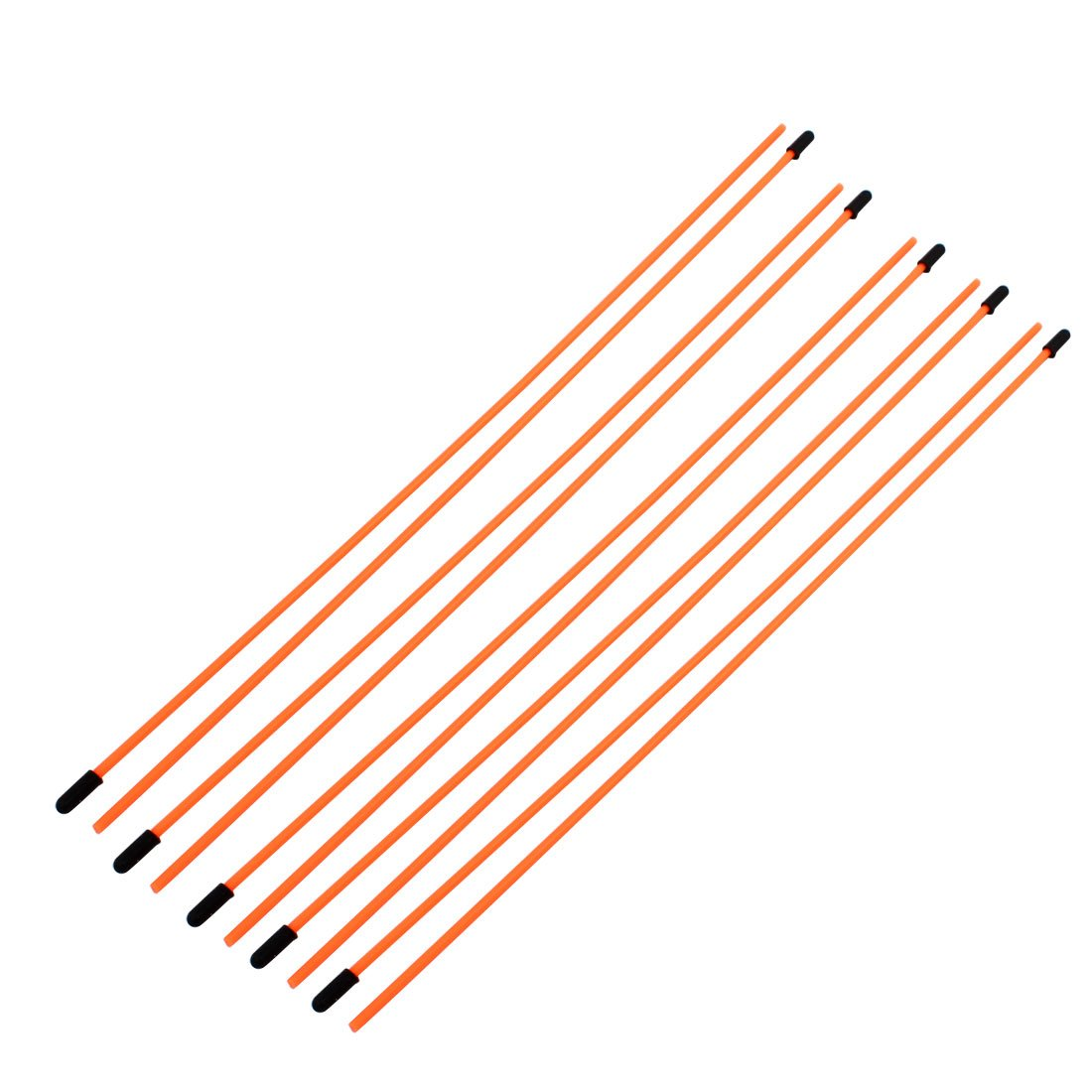 uxcell 10 Pcs 3mm x 1.5mm Orange Plastic Antenna Pipe Tube Protectors Receiver Aerial for RC Model Car