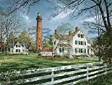 Heritage Puzzle Currituck Lighthouse Jigsaw Puzzle (550-Piece)