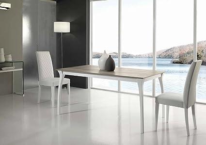 Maly Tavolo allungabile design 160x90 gamba minimal - Bianco ...