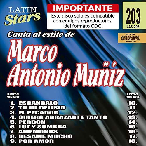 Karaoke Latin Stars 203 Marco Antonio Muñiz