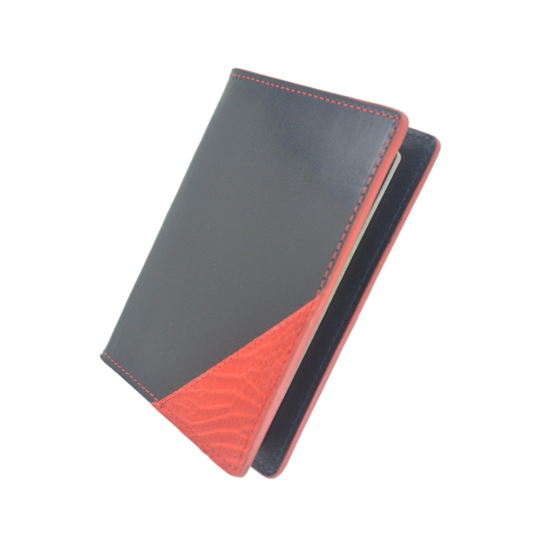 Bryant Park Leather Passport Holder Case Genuine Alligator Black Red Made in USA