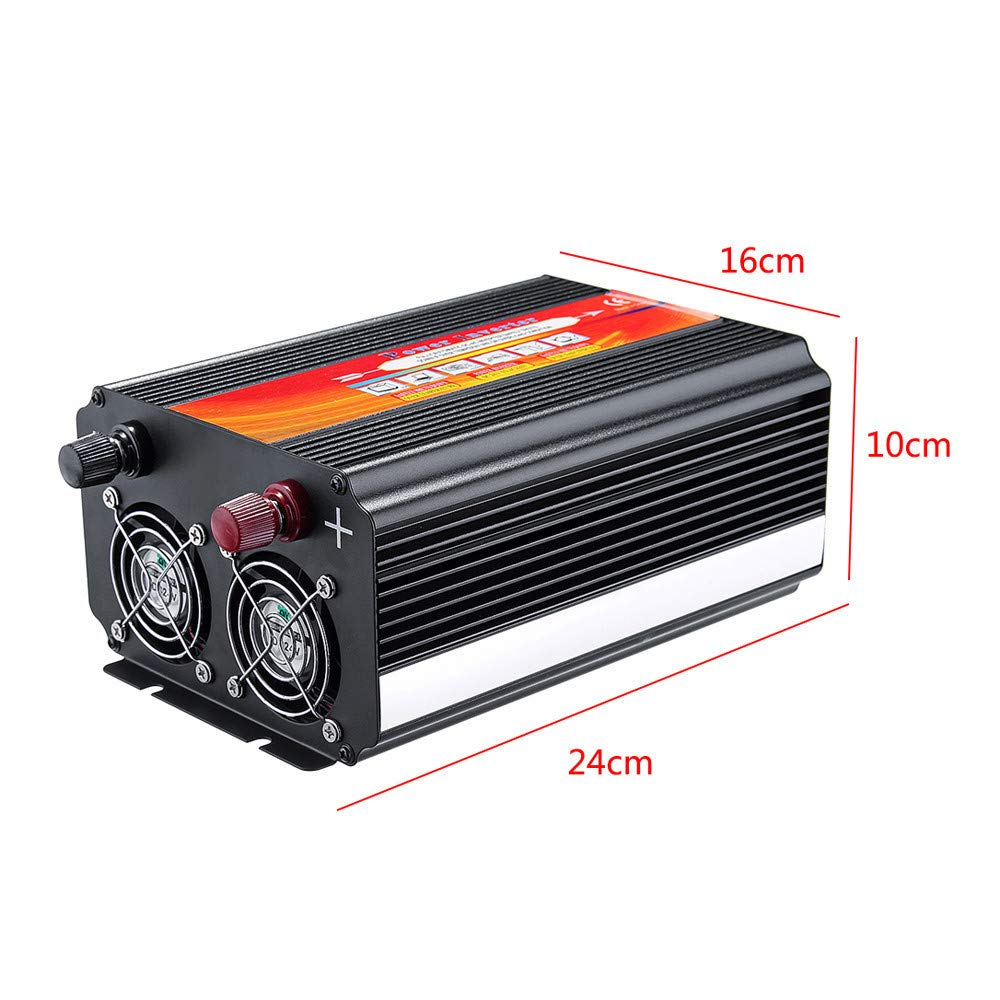 Alelife 8000W Car Power Inverter 12/24V to 110/220V Sine Wave Converter with Blade Fuses 2pcs Blade Fuses Overload Protection, Overheat Protection by Alelife (Image #3)