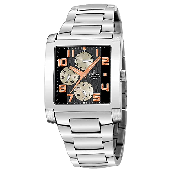 FESTINA F16234/5 - Reloj de Caballero de Cuarzo, Correa de Acero Inoxidable Color Plata: Festina: Amazon.es: Relojes
