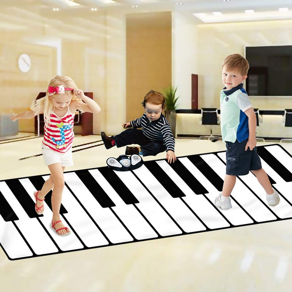 Large Musical Carpet 24 Keys 5 Modes External Phone / MP3,3-8 Years Old Children's Early Education Music Toy, 26074cm