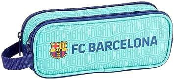 FC Barcelona Estuche portatodo Doble 2 Cremalleras Escolar: Amazon.es: Equipaje