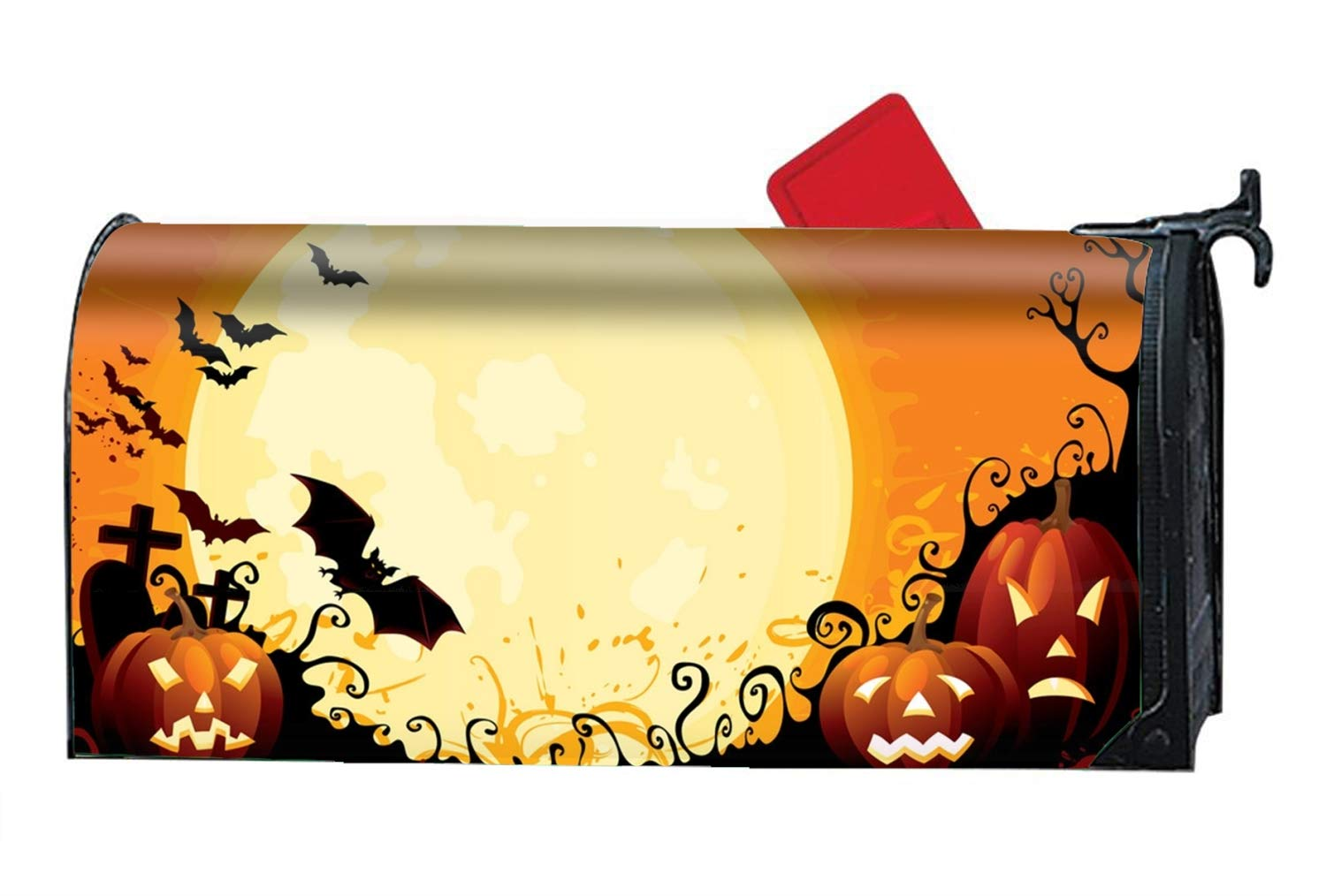 Verna Christopher Happy Halloween Pumpkin Mailbox Makeover - Magnetism PVC Magnetic Cover