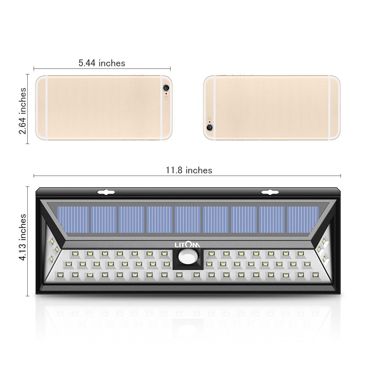 Litom Super Bright Solar Lights 54 LED Solar Power Outdoor Motion Sensor Light With LED on Both Side by Litom (Image #7)