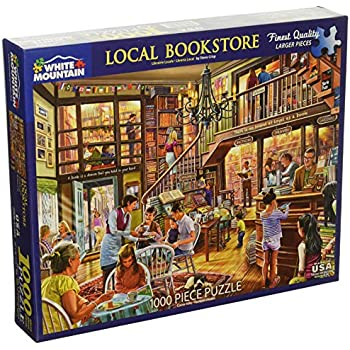 White Mountain Puzzles Local Bookstore Jigsaw Puzzle, Multicolor