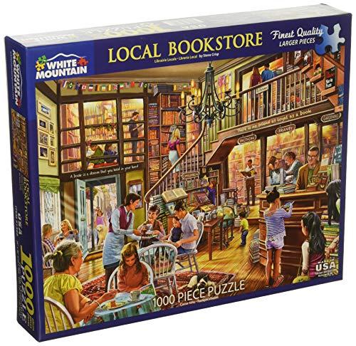 White Mountain Puzzles Local Bookstore Jigsaw Puzzle, Multicolor