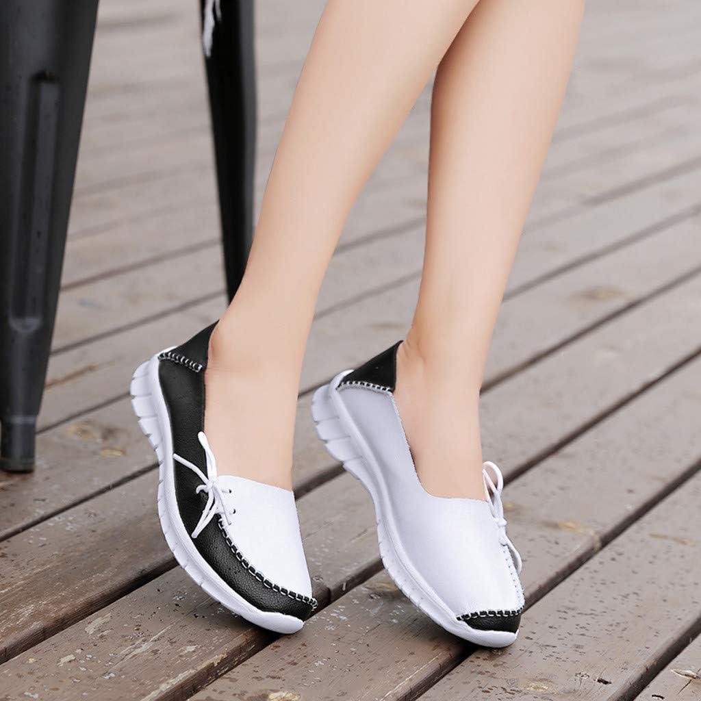 Calzado Plano Oto/ño Al Aire Libre Correr Moda Trabajo Monta/ñismo SUNNSEAN Zapatillas Deportivas de Mujer Casual Ocio de PU Primavera Zapatos de Verano Respirable Deporte Verano