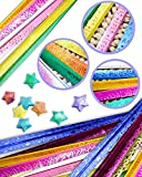 UPlama 1120 Sheets Origami Stars Papers Package DIY Paper 7 Styles Glitter Origami Stars