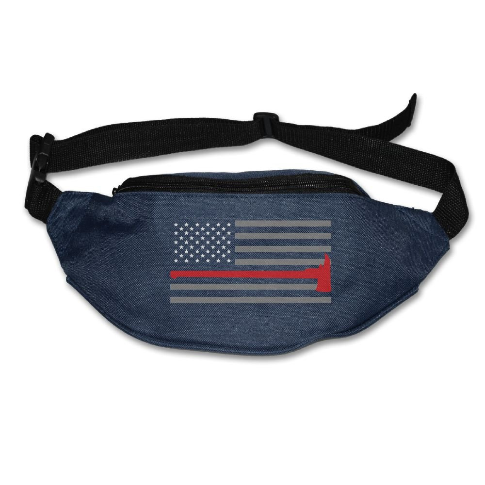 chic Janeither Unisex Pockets Thin Red Line Flag Lover Fanny Pack Waist Bum  Bag Adjustable 02f6dac6c651c