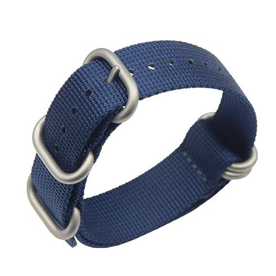 22mm royalblue Premium Deluxe estilo de la NATO robusto exótica nylon suave  tipo Reloj pulsera de los hombres del deporte  Amazon.es  Relojes 2f39fd23bc4a