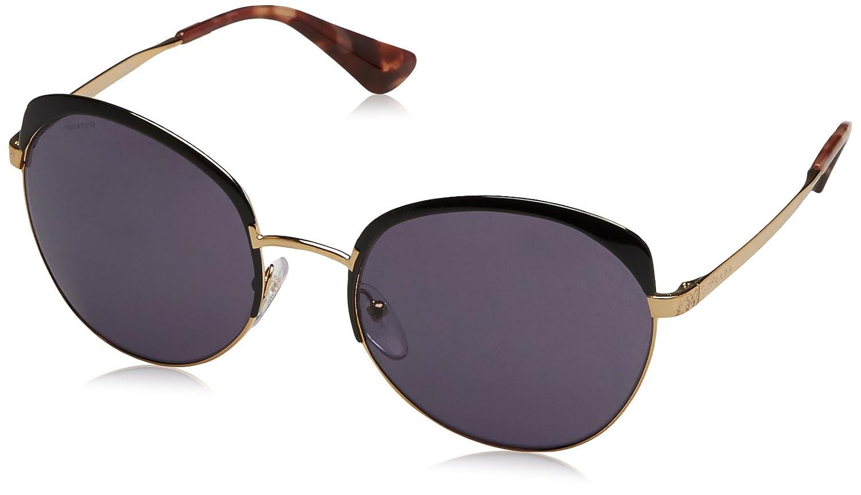 03e610ae39366 Amazon.com  Prada Women s PR 54SS Sunglasses Antique Gold Black Violet  59mm  Prada  Clothing