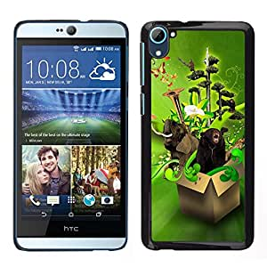 Cubierta protectora del caso de Shell Plástico    HTC Desire D826    Diseño Animales Funny Box @XPTECH