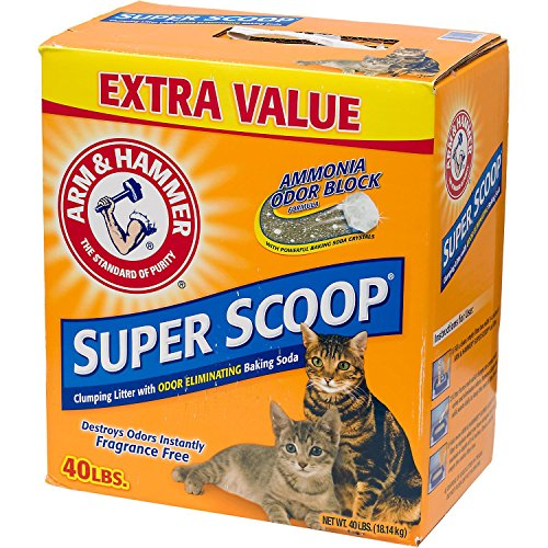 Large Product Image of Arm & Hammer Super Scoop Litter, Fragrance Free, 40 Lbs (Packaging May Vary)