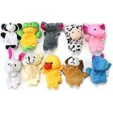 Liroyal Cute 10 Kinds Lot of Velvet Animal Style Finger Puppets Set Kids Children Gifts