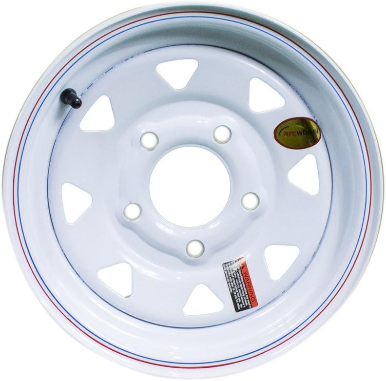 Arcwheel White Spoke Steel Trailer Wheel 5 on 4.5 1,250lb Capacity 12 x 4 Rim