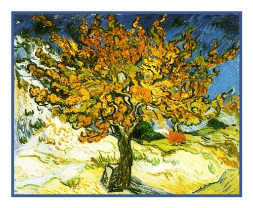 Mulberry Tree inspired by Vincent Van Gogh Counted Cross Stitch Pat...