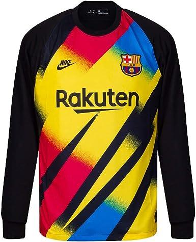 Amazon Com Nike 2019 2020 Barcelona Home Goalkeeper Football Soccer T Shirt Jersey Yellow Clothing