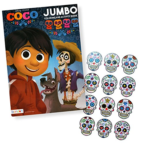 Disney Coco Coloring Book with Stickers