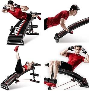GBX Juego de gimnasio Equipo de herramientas de gimnasio para entrenamiento Equipo de ejercicio físico Tabla de pesas ajustables Nivel de entrenamiento Tablero supino, Tablero multifuncional de abdom: Amazon.es: Bricolaje y herramientas