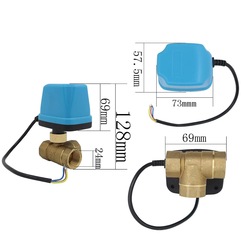 DN25 1 pouce vanne 3 voies motoris/ée 220v electrovanne motoris/ée 220v vanne a bille 1//2 3//4 1 1-1//4 1-1//2 pouce