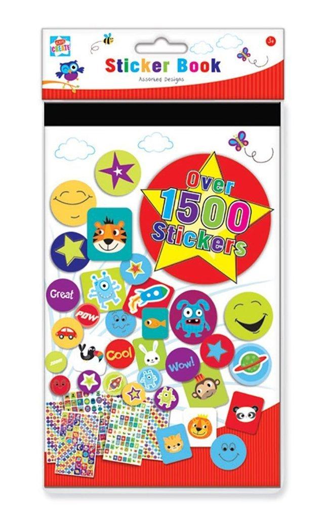 Anker International STBI/1 - Libro de pegatinas (1500 pegatinas), multicolor