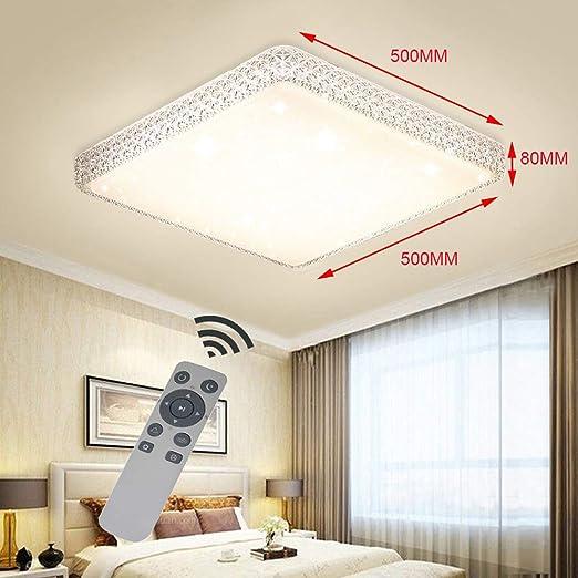 HAPYNY 24W Runde Dimmbar 3000K-6500K Modern Kristall LED Deckenleuchte Deckenlampe Mit Fernbedienung Schlafzimmer Wandlampe Schlafzimmer Wohnzimmer Flurleuchte Schlafzimmer Badlampe Wand-Deckenleuchte