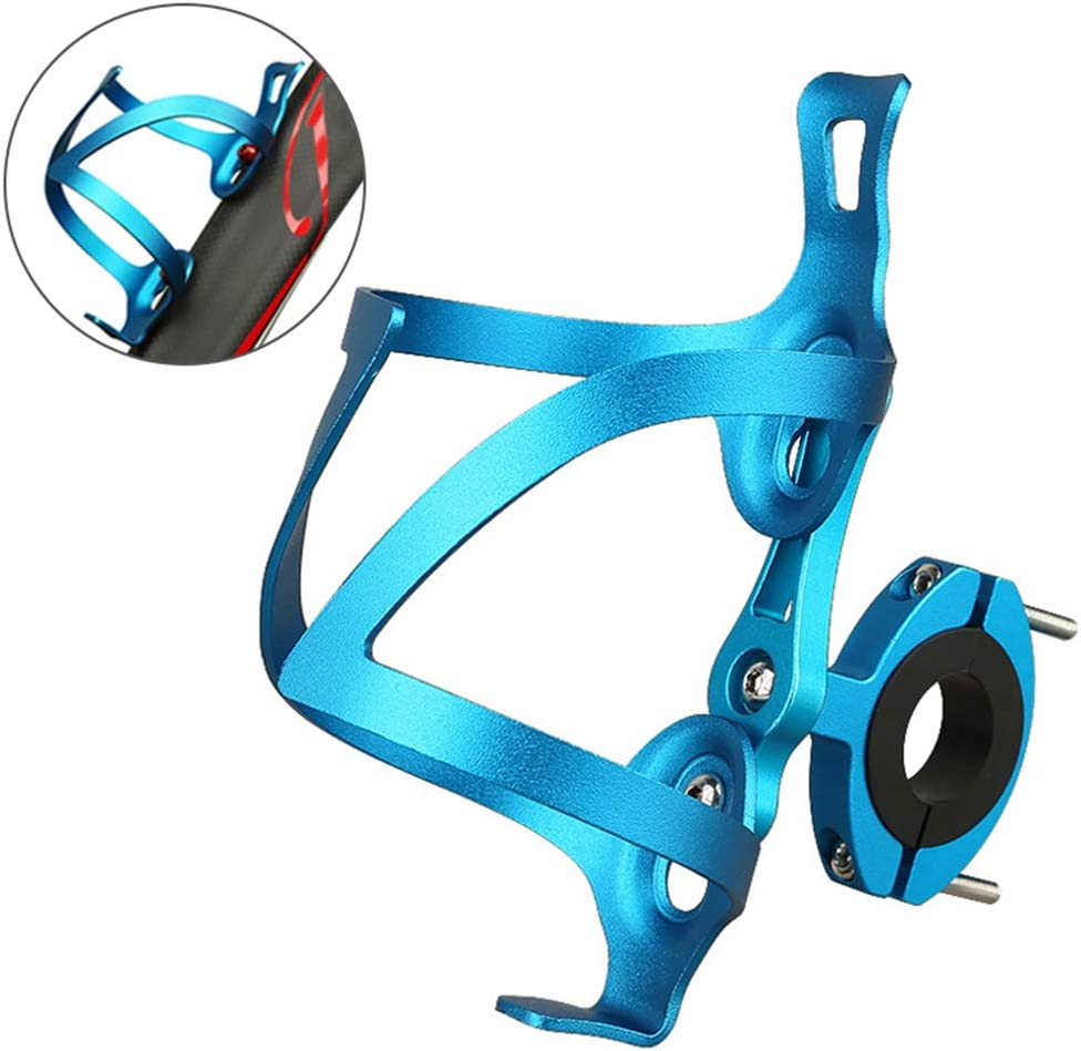 GuDoQi Portabidon Bicicleta Universal, Ajustable y con Adaptador, Ultraligeros en Aleación de Aluminio, Rotación de 90°, Fácil de Instalar, Ideal para Bicicletas de Carretera y Montaña (Negro)