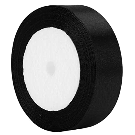 GCS 25 Meters Of Satin Wedding Party Ribbon 15mm In Multiple Colours Pack Rolls Brown