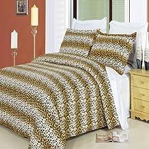 King/Cal.King Size 100% Egyptian Cotton 3 pcs Duvet Cover Set Cheetah