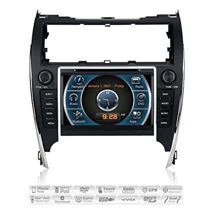Amazon com: Aimtom 2012 2013 2014 Toyota Camry In-dash Car Stereo