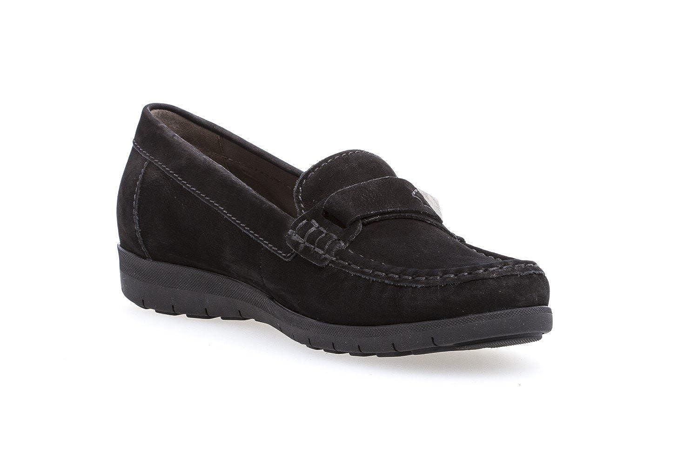 9275635549cb ... Gabor - Damen Mokassin - Schwarz Schuhe Übergrößen in Übergrößen ...