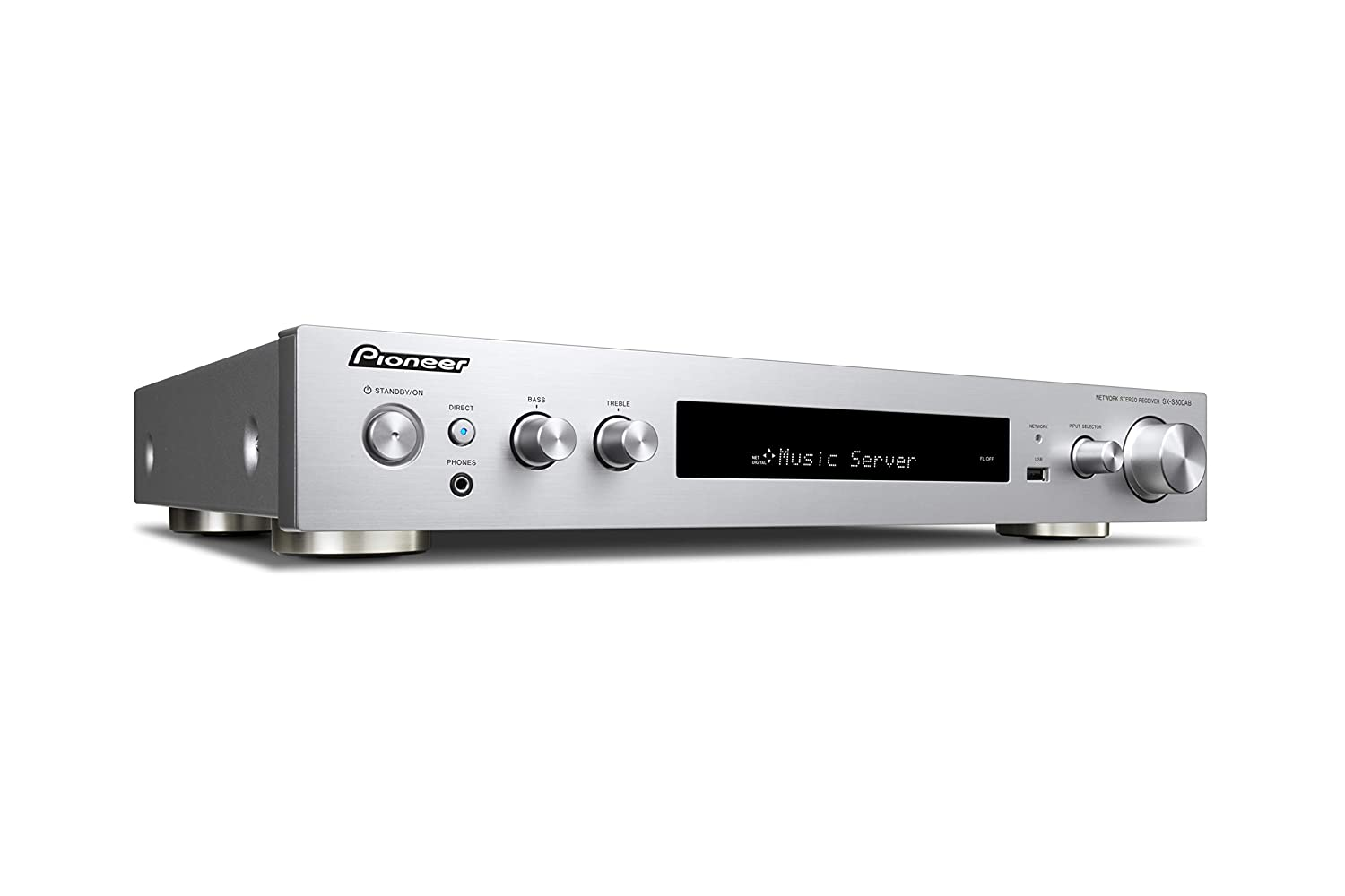 DAB+ Streaming Silber Front USB//Audio in Musik Apps SX-S30DAB-S Pioneer Stereo Receiver Bluetooth High-Res Audio Dolby TrueHD 85 Watt//Kanal Spotify, Deezer u.a. HDMI WLAN
