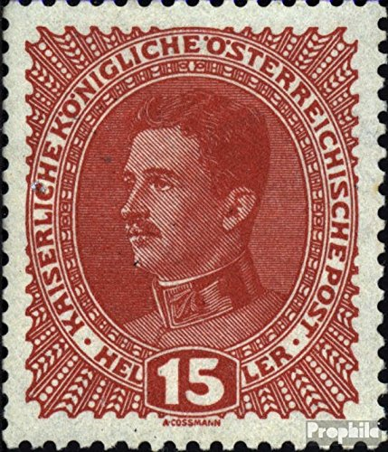 Austria 221y Tested, Thick Paper 1917 Clear Brands (Stamps for Collectors)